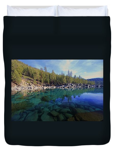 Duvet Cover featuring the photograph Wondrous Waters by Sean Sarsfield