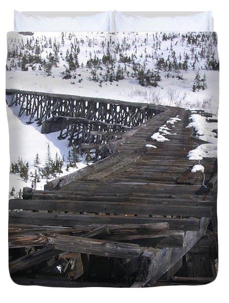 Wood Bridge Duvet Cover