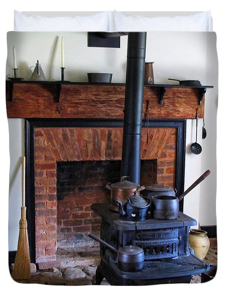 Wood Burning Stove Duvet Cover by Dave Mills