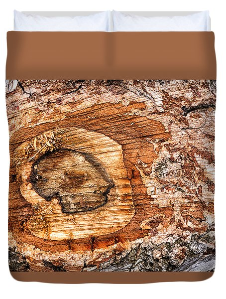Wood Detail Duvet Cover