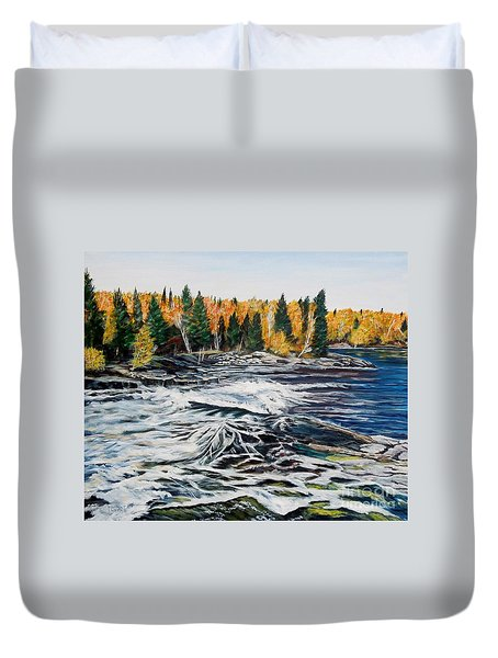 Wood Falls 2 Duvet Cover