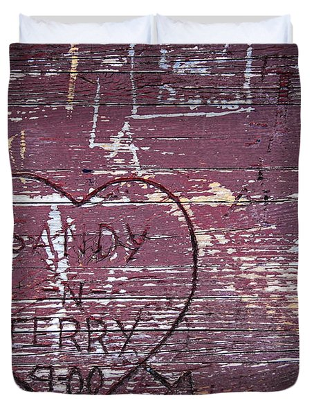 Wood Graffiti Duvet Cover