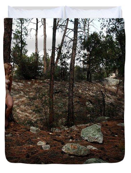 Wood Nymph Duvet Cover by Joe Kozlowski