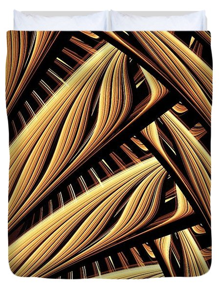 Wood Weaving Duvet Cover by Anastasiya Malakhova