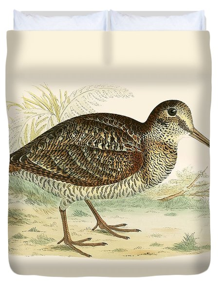Woodcock Duvet Cover by Beverley R Morris