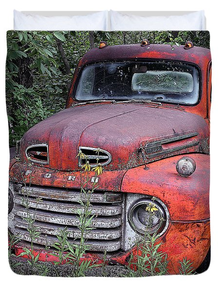 Duvet Cover featuring the photograph Wooded Ford by Christopher McKenzie