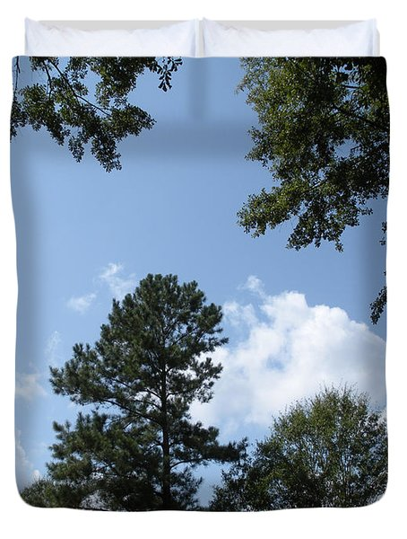 Wooded Forest  Duvet Cover by Joseph Baril
