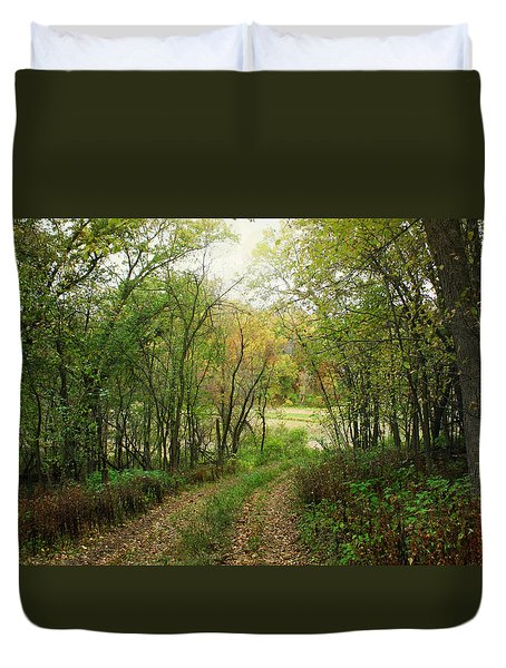Wooded Path Duvet Cover by Inspired Arts