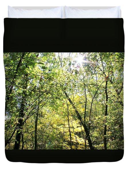 Wooded Sunshine Duvet Cover