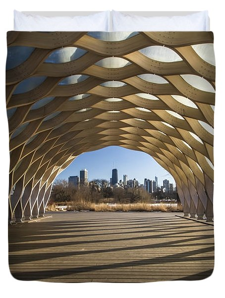 Wooden Arch In Late Afternoon Sun Duvet Cover