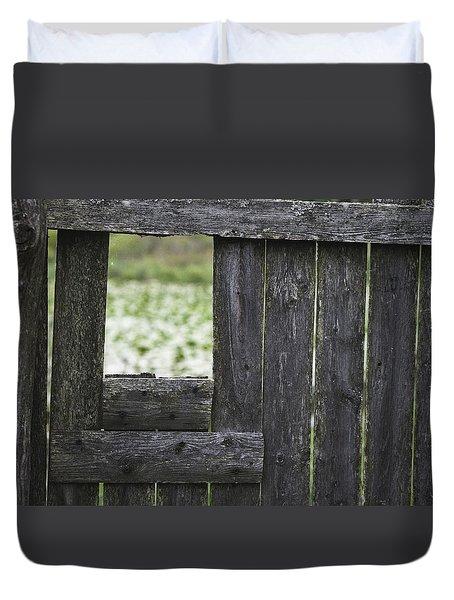 Wooden Blind Duvet Cover