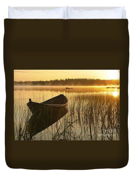 Wooden Boat Duvet Cover