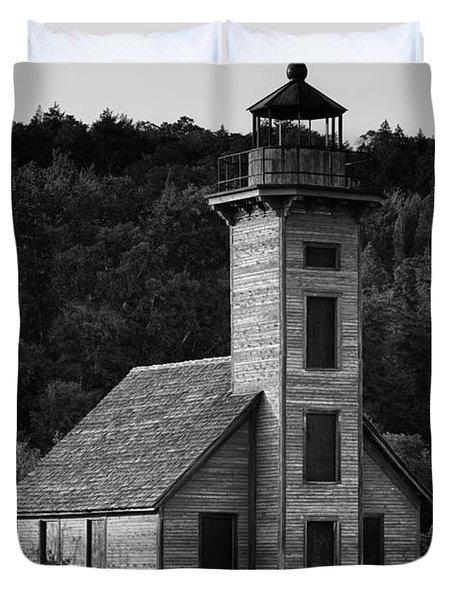 Wooden Lighthouse Duvet Cover
