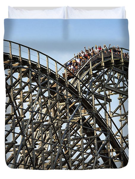 Wooden Roller Coaster Duvet Cover