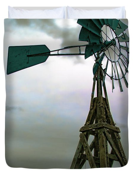 Wooden Windmill Duvet Cover