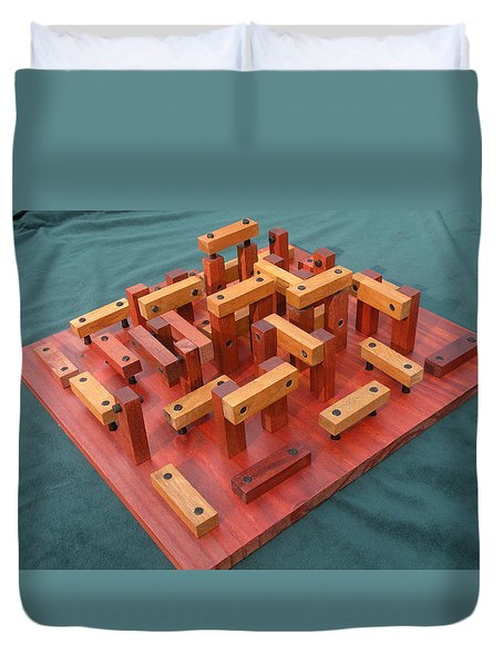 Woodhenge Duvet Cover by Dave Martsolf