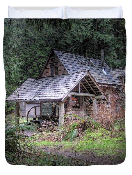 Rustic Cabin Duvet Cover by Jane Linders