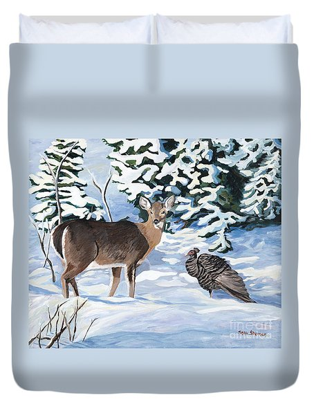 Woodland Creatures Meet Duvet Cover