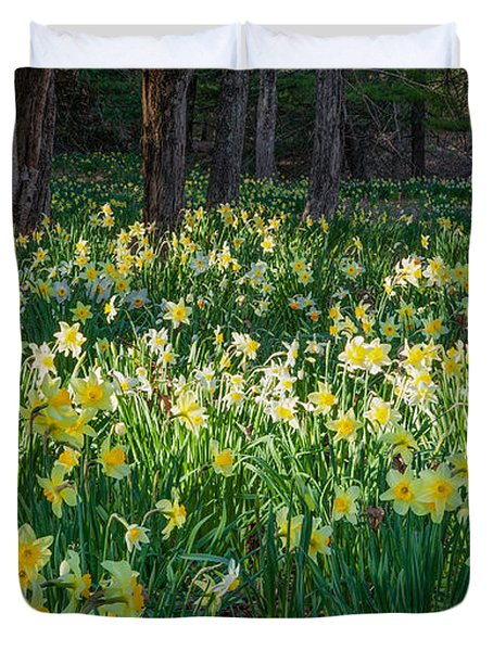 Woodland Daffodils Duvet Cover by Bill Wakeley