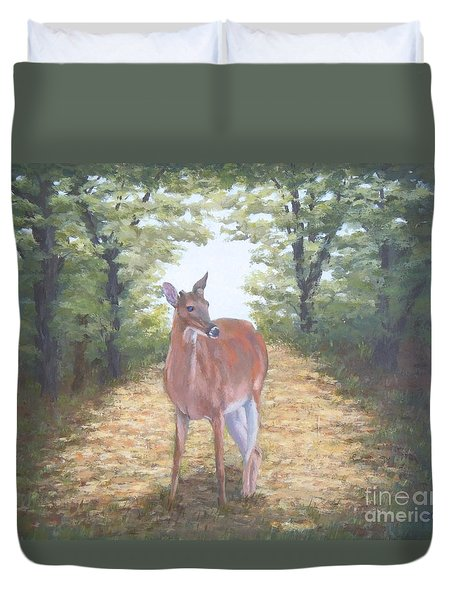 Woodland Encounter Duvet Cover