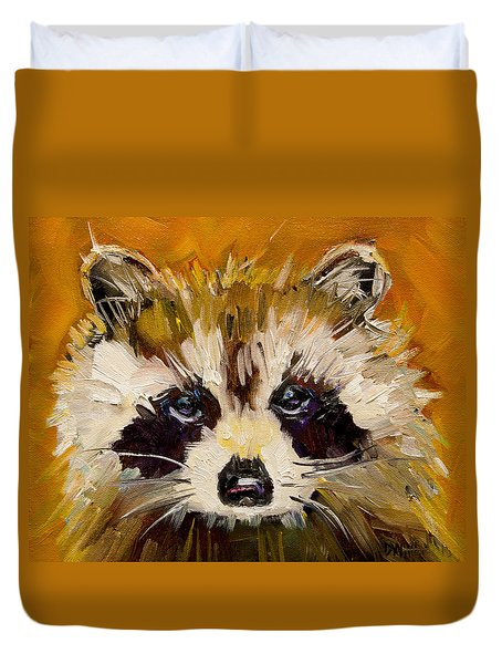 Woodland Racoon Duvet Cover