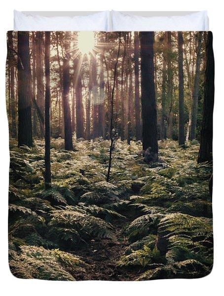 Woodland Trees Duvet Cover by Amanda Elwell