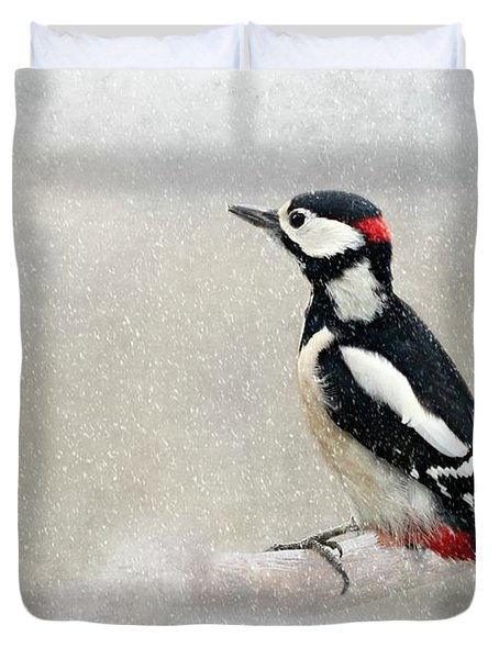 Woodpecker Duvet Cover by Heike Hultsch