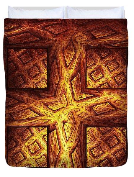 Woodwork Duvet Cover by Anastasiya Malakhova