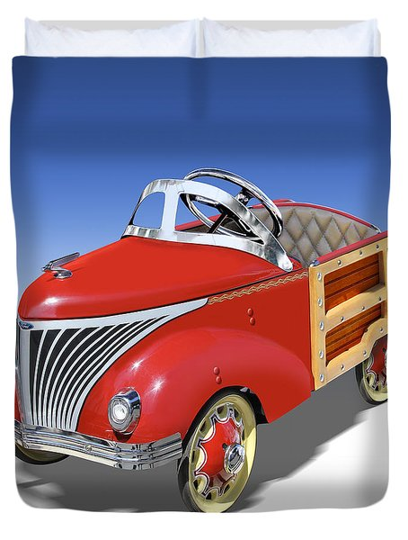Woody Peddle Car Duvet Cover by Mike McGlothlen