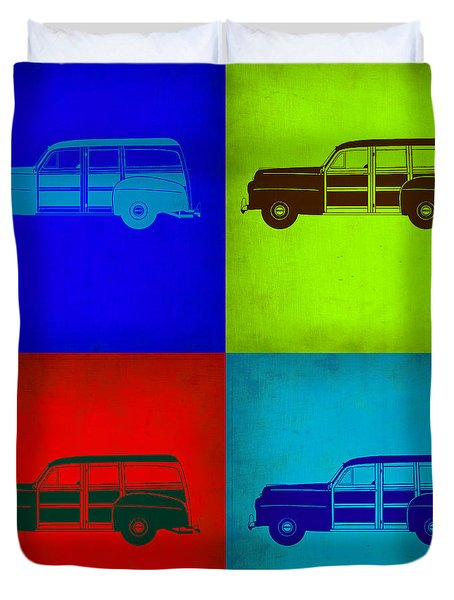 Woody Wagon Pop Art 1 Duvet Cover by Naxart Studio