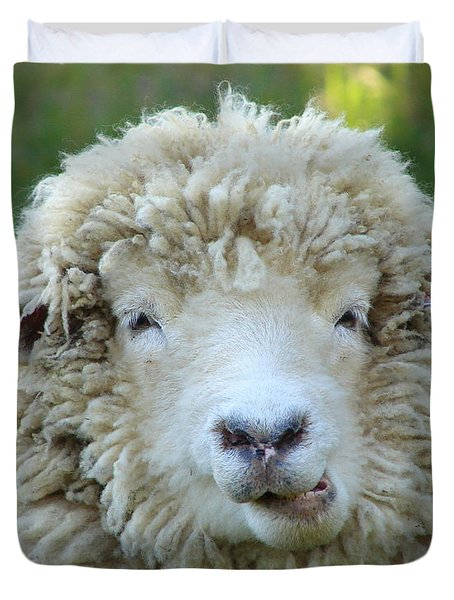 Wooly Sheep Duvet Cover by Ramona Johnston