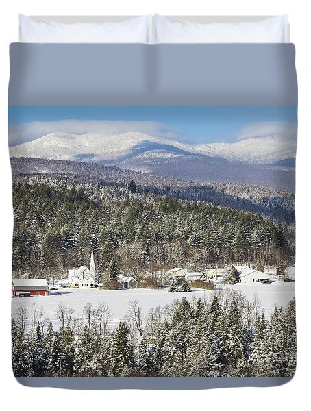 Worcester Vermont Winter Duvet Cover by Alan L Graham