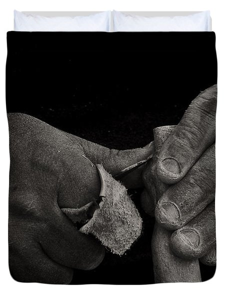Working Hands Duvet Cover