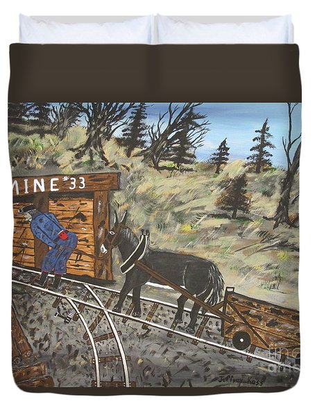 The Coal Mine Duvet Cover by Jeffrey Koss