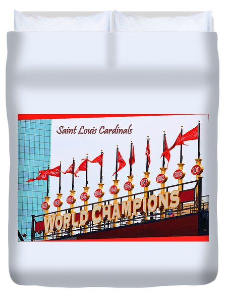 World Champions Flags Duvet Cover