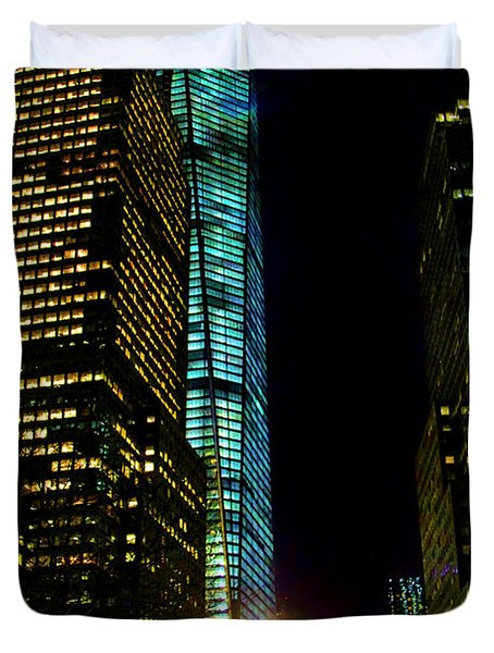 World Financial Center Duvet Cover by Mariola Bitner
