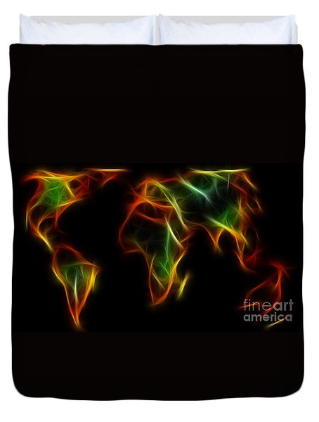 World Impressions - Abstract World Duvet Cover by Kaye Menner