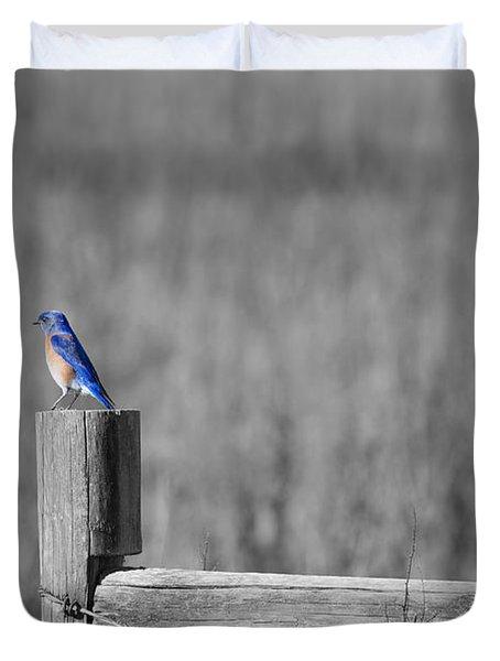 World Of Blue Duvet Cover