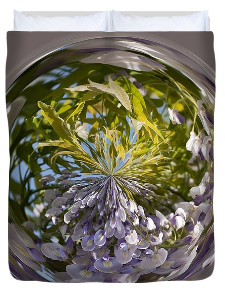 World Of Wisteria Duvet Cover by Anne Gilbert