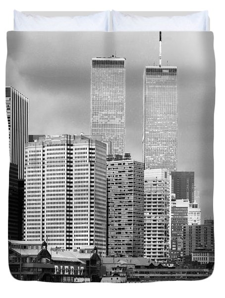 New York City - World Trade Center - Vintage Duvet Cover