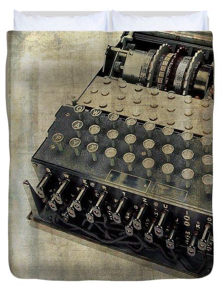 World War II Enigma Secret Code Machine Duvet Cover
