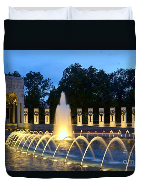 World War II Memorial Duvet Cover by Allen Beatty