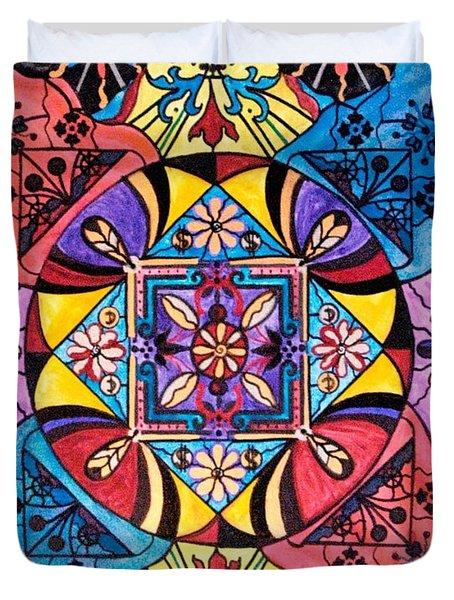 Worldly Abundance Duvet Cover