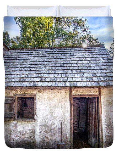Wormsloe Cabin Duvet Cover