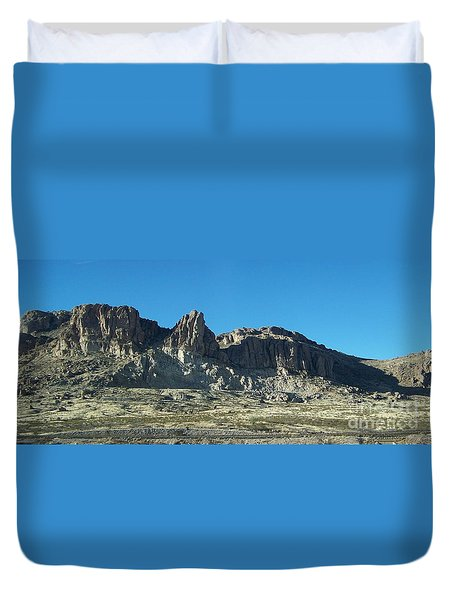 Duvet Cover featuring the photograph Western Landscape by Eunice Miller