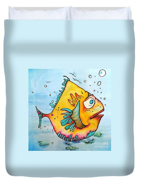 Duvet Cover featuring the painting Big Charlie by Vickie Scarlett-Fisher