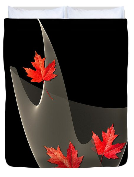Woven Maple Leaves Duvet Cover