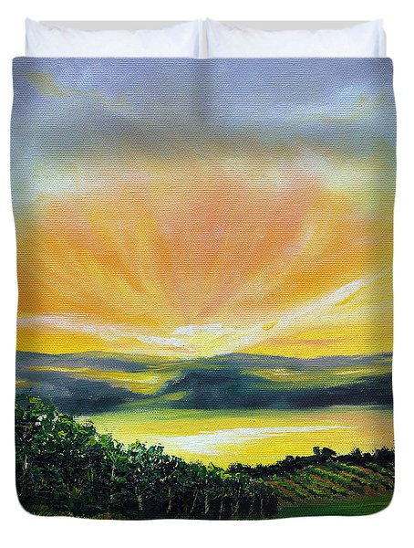 Wrapped In Light Duvet Cover by Meaghan Troup