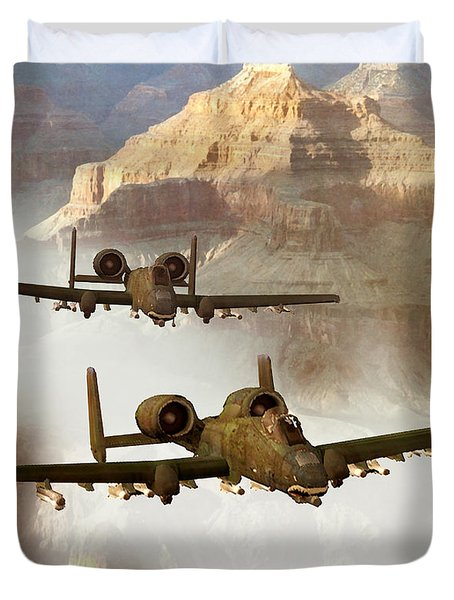 Wrath Of The Warthog Duvet Cover