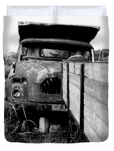 Duvet Cover featuring the photograph wreck I   by Mariusz Zawadzki